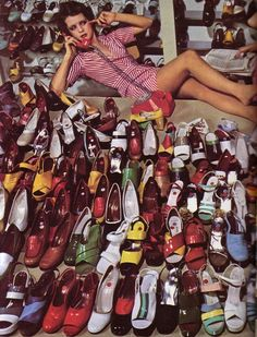 This is my Heaven!!!  Guy Bourdin + Charles Jourdan