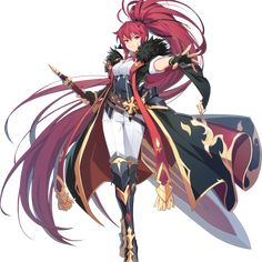 Elesis/Grand Chase Dimensional Chaser Grand Chase for kakao Elesis Fantasy Girl, Anime Fantasy, Female Character Design, Character Concept, Character Art, Fantasy Characters, Female Characters, Anime Characters, Manga Anime
