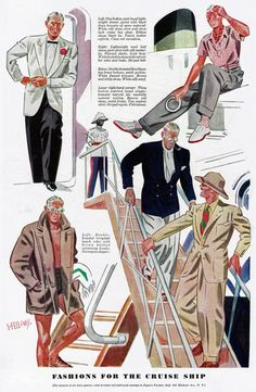 Laurence Fellows - Fashions for the Cruise Ship. Every man should own a pith helmet.