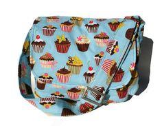 Blue Cupcakes Diaper Bag