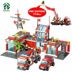 Aliexpress.com : Buy Super Large Fire Station 774 Pcs Building Blocks Helicopter Educational Kazi Bricks Toy Blocks Compatible with lego City Fire from Reliable toy projector suppliers on Pandadomik