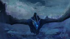 Ice Dragon Viserion, Aaron Garcia on ArtStation at https://www.artstation.com/artwork/q5e2N