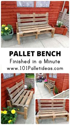 Pallet Bench Finished in a Minute