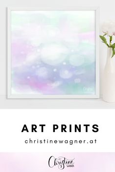 Print Foto, Watercolor Artist, Youth Rooms, Fine Paper, Large Prints, Pastel Colors, Illustration, Inspiration, Interior Design
