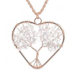 Heart Life Tree Pendant Necklace