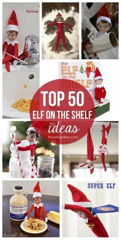 Top 50 elf on the shelf ideas on iheartnaptime.com