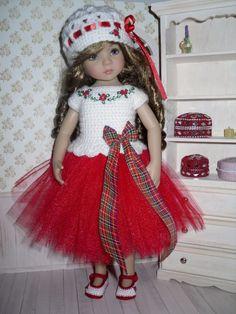Christmas set for Dianna Effner Little Darling doll - blouse, skirt, hat, shoes | eBay
