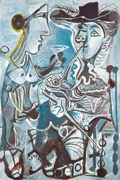 Pablo Picasso, The Couple, 10 June 1967. Oil on canvas. 195 x 130 cm, Kunstmuseum Basel, gift of the artist to the municipality of Basel; permanent loan from the City of Basel 1967, © Sucesión Pablo Picasso, VEGAP, Madrid, 2015.