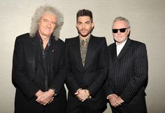 Brian May, Adam Lambert and Roger Taylor backstage before their tour announcement  I got tix for LA I know it is never going to be Freddie but my dad wasn't a fan in time for Freddie... Now he can be both.