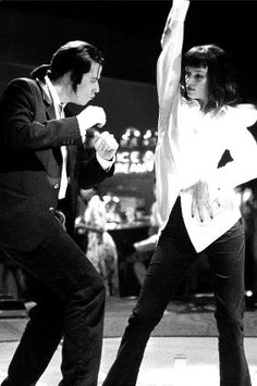John Travolta and Urma Thurman ~Pulp Fiction,1994 : Directed by the Fabulous Quentin Tarantino <3