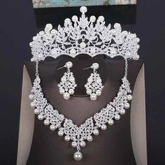 Wedding Jewelry Sets, Wedding Accessories, Hair Accessories, Costume Jewelry Sets, Costume Accessories, Bridal Tiara, Bridal Crown, Rhinestone Necklace, Gold Rhinestone