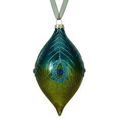 BuyJohn Lewis Shangri-La Peacock Finial, Blue / Green Online at johnlewis.com