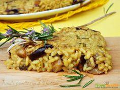 Schiacciata di riso con melanzana germogli di soia al curry  #ricette #food #recipes