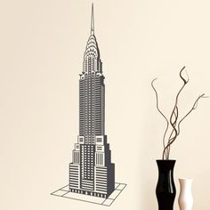 "Vinilo decorativo ""Chrysler Building"""