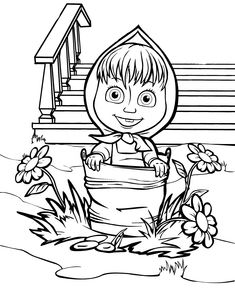 Bear To Color Printable. For cartoon lovers, of course familiar with the cartoon Masha and the Bear. Masha and the Bear is a cartoon originating in Russia, created in the late. Bear Coloring Pages, Coloring Sheets For Kids, Cartoon Coloring Pages, Disney Coloring Pages, Coloring Pages To Print, Printable Coloring Pages, Coloring Books, Masha Et Mishka, Marsha And The Bear