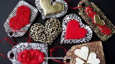 Embossed Valentine Gift Tag Decorated Sugar Cookies Tutorial Video