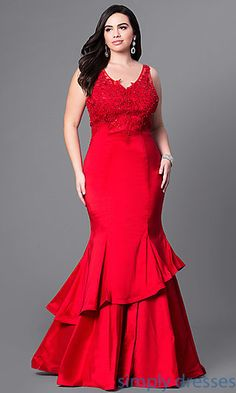 Shop plus-size formal prom dresses and semi-formal plus party dresses at Simply Dresses. Plus cocktail dresses and evening gowns in plus sizes.