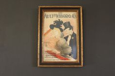 Framed Print of an Advertisement For The Ault & Wiborg Co., Makers of Fine Printing and Lithographic Inks, At the Concert, Toulouse-Lautrec by MadGirlRetro on Etsy