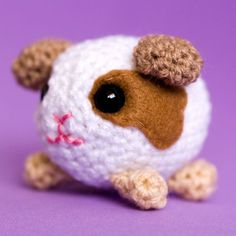 Amigurumi White and Brown Guinea-Pig, via Etsy.