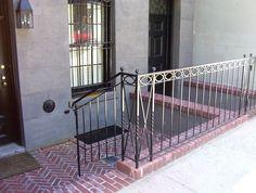 RB-Brownstone   Exterior Railings   Railings   Product Gallery   Kaufman Ironworks Brick Houses, Railings, Stairs, Exterior, Gallery, Home Decor, Brick Homes, Stairway, Decoration Home