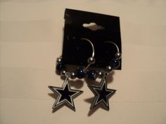 Dallas Cowboys Sterling Silver Hoop Earrings by ChloeDooInspired