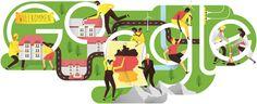 Google Doodle vom 03.10.2015 - Tag der Deutschen Einheit