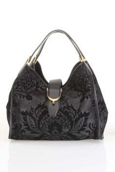 Few things are better than Gucci...especially when it includes a SALE! Gucci Soft Stirrup Brocade Shoulder Bag In Black - Beyond the Rack