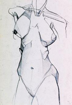 "Saatchi Online Artist: vidak radmilovic; Charcoal Drawing ""NUDE """