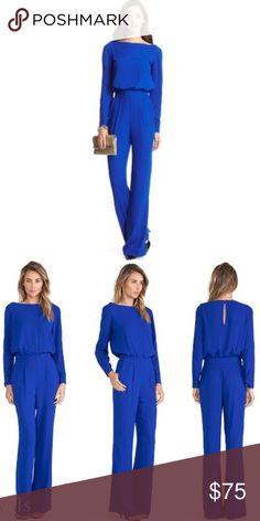 Diane von Furstenberg Longsleeve Jumpsuit Worn once to a party- perfect condition! Diane Von Furstenberg Pants Jumpsuits & Rompers