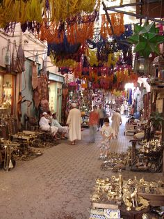 Souk, Marrakesh is the largest traditional Berber market in Morocco and the image of the city is closely associated with its souks. A honeycomb of intricately connected alleyways, this fundamental section of the old city is a small medina in itself, comprising a vast number of stalls.