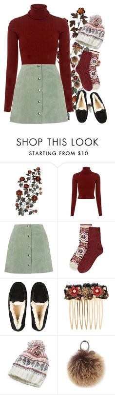 """Winterlust"" by tubamirum ❤ liked on Polyvore featuring A.L.C., Topshop, M&S, UGG, Dolce&Gabbana, Mudd and Rebecca Minkoff"