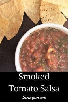 Smoked Tomato Salsa recipe with fresh tomatoes and a hint of smoke adds unique flavor to a spicy blend of tomatoes, jalapenos and garlic. Smoked Salsa Recipe, Tomato Salsa Recipe, Fresh Tomato Recipes, Traeger Recipes, Grilling Recipes, Pellet Grill Recipes, Quick Appetizers, Smoking Recipes, Mexican Food Recipes