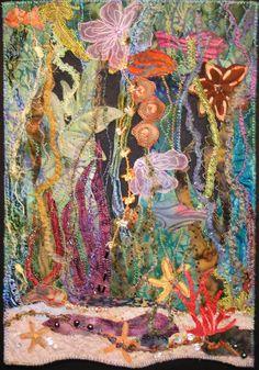 """Sea Treasures"" art quilt."