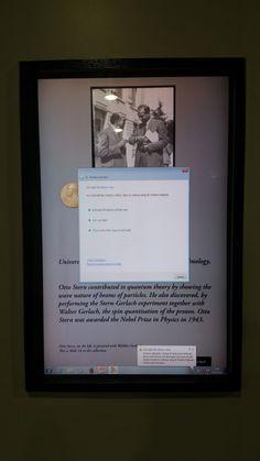 Physics history board at the University of Edinburgh - whoops! #bsod #pbsod