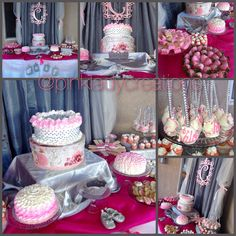 Vintage Pink Pearls And Diamonds Baby Shower