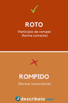La forma correcta de indicar el participio del verbo romper es roto. La forma rompido alguna vez fue válida, pero ya no lo es más, por lo que se debe evitar su uso.   #español #ortografía