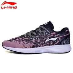 Li-Ning Women's 2017 SPEED STAR Running Shoes MONO YARN Cushion Breathable Light  Sneakers LiNing Sports Shoes ARHM082 XYP472