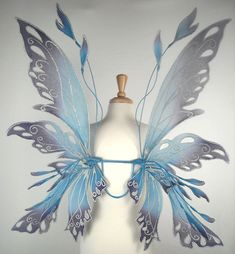 Buy Fairy Wings - On Gossamer Wings - Posie at Wish - Shopping Made Fun Fairy Land, Fairy Tales, Adult Fairy Wings, Diy Fairy Wings, Cosplay, Faerie Costume, Winter Fairy Costume, Blue Fairy Costume, Costume Wings