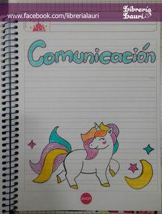 #caratula #portada #unicornio #infantil #escolar #librerialauri Page Borders Design, Border Design, Decorate Notebook, Notebook Design, Diy Headband, Anime Love, Designs To Draw, Paper Crafts, Bullet Journal