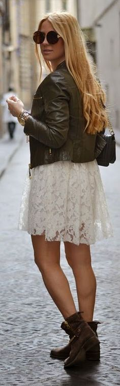 Front Row Shop White Long Sleeve Lace Overlay Dress