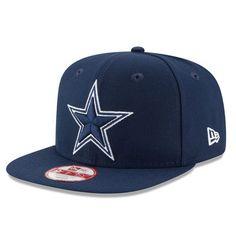 Cowboys New Era Title Detailer Original Fit 9FIFTY Snapback Adjustable Hat – Navy
