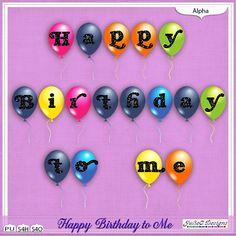 Happy Birthday to Me Alpha #JulieCDesigns #thestudio #digitalscrapbooking