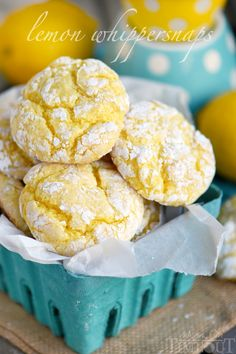 Lemon Whippersnaps - These Lemon Whippersnaps are super easy to make with just a handful of ingredients! Lemon zest and juice give these amazing cookies a bright, fresh flavor!