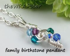 Wire Wrapped Pendant Wire Jewelry Mothers Necklace by theWRAPstar, $22.95