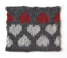 How to knit a heart pattern