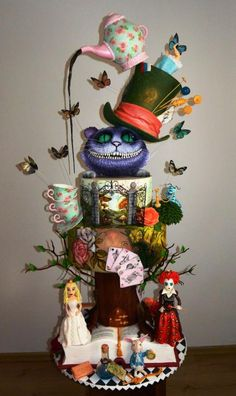 Alice in wonderland cake :)  - Cake by ssysia86