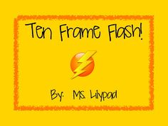 FREE Ten Frame Flash math partner game (Quick Images) for kindergarten Free Math Games, Kindergarten Math Games, Math Classroom, Fun Math, Teaching Math, Math Activities, Math School, Lolo, 1st Grade Math