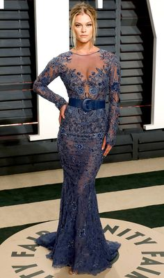 102Awesome Oscars Weekend OutfitsYou Didn't See - but Can't Miss - Nina Agdal in Zuhair Murad