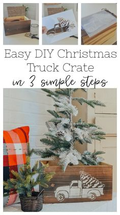Anyone in the mood for a little Christmas DIY project? I hope so because today I'm sharing a very easy DIY Christmas… Christmas Tablescapes, Christmas Mantels, Christmas Decorations, Holiday Decor, Holiday Ideas, Christmas Gift Guide, Simple Christmas, Diy Christmas, Christmas Projects