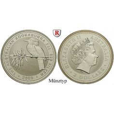 Australien, Elizabeth II., 2 Dollars seit 1992, 62,14 g fein, bfr.: Elizabeth II. seit 1952. 2 Dollars 50 mm 62,14 g fein, seit… #coins